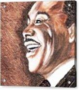 The King Smiles Acrylic Print