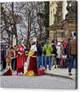 The Kings Of The Democracy. Prague Castle. Prague Spring 2017 Acrylic Print