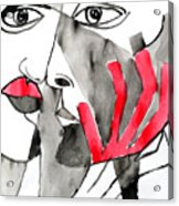The Kiss In Red Acrylic Print