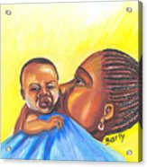 The Kiss Of A Mother In Senegal Acrylic Print