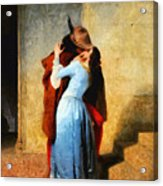 The Kiss Of Hayez Revisited Acrylic Print