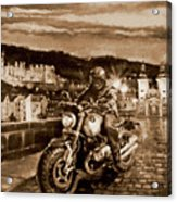 The Knight of Heidelberg-Sepia Acrylic Print