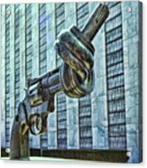 The Knotted Gun Acrylic Print