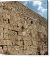 The Kotel - Western Wall In Jerusalem Acrylic Print