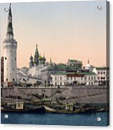The Kremlin Towards The Place Rouge In Moscow - Russia - Ca 1900 Acrylic Print
