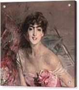 The Lady In Pink Acrylic Print