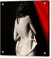 The Lady Near Red Acrylic Print