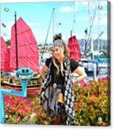 The Lady Pirate Acrylic Print