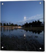 The Lake In The Moonlight Acrylic Print