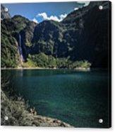 The Lake On A Mountain Acrylic Print