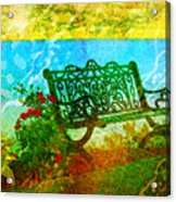 The Lakeview Bench Acrylic Print