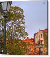 The Lamppost In Oil Acrylic Print