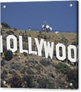 The Landmark Hollywood Sign Acrylic Print