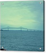 The Last Bridge Before The Ocean   Acrylic Print