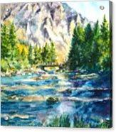 The Last Bridge To Alpine Acrylic Print