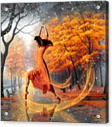 The Last Dance Of Autumn - Fantasy Art  Acrylic Print