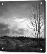 The Last Dawn - Grayscale Acrylic Print