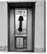 The Last Pay Phone Acrylic Print