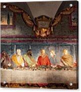 The Last Supper. Fresco In Church Santa Maria Del Carmine, Florence  Acrylic Print