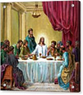 The Last Supper Acrylic Print by John Lautermilch