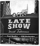 The Late Show Acrylic Print