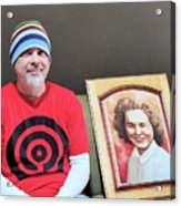 The Artist And His Latest Painting Acrylic Print