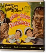 The Laughs Are Monsterous Abott An Costello Meet Frankenstein Classic Movie Poster Acrylic Print