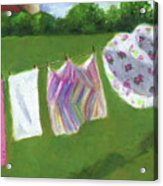 The Laundry On The Line Acrylic Print