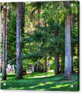 The Lawn At Hill's Resort Acrylic Print