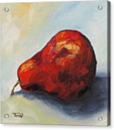 The Lazy Red Pear II Acrylic Print
