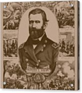 The Leader And His Battles - General Grant Acrylic Print