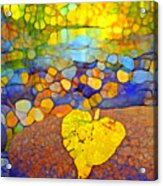 The Leaf At The Creek Acrylic Print