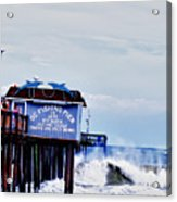 The Leaning Pier Acrylic Print