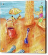 The Leaning Sand Castle Acrylic Print