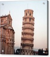 The Leaning Tower Of Pisa Acrylic Print