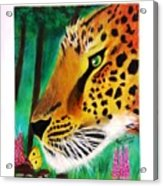 The Leopard And The Butterfly Acrylic Print