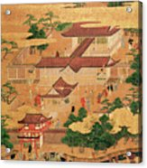 The Life And Pastimes Of The Japanese Court - Tosa School - Edo Period Acrylic Print