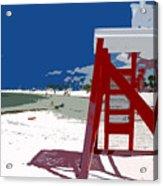 The Lifeguard Stand Acrylic Print