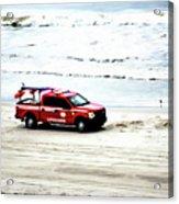 The Lifeguard Truck Acrylic Print