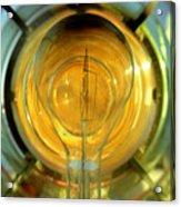 The Light Bulb Inside The Fresnel Of A Lighthouse Acrylic Print