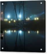 The Light From The Shore Lights Reflected In The Water 3 Acrylic Print
