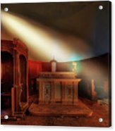 The Light In The Abandoned Church - La Luce Nella Chiesa Abbandonata Acrylic Print