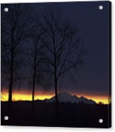 The Light On The Mountain Acrylic Print