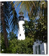 The Lighthouse In Key West II Acrylic Print