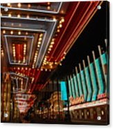 The Lights Are On In Las Vegas Acrylic Print