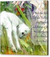 The Lily Of The Valley - Lyrics Acrylic Print