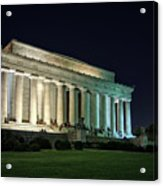 The Lincoln Memorial At Night Acrylic Print