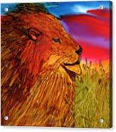 The Lion King Of Massai Mara Acrylic Print