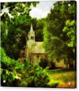 The Little Church On The Corner Acrylic Print