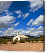 The Little Country Church Acrylic Print